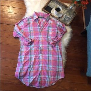 Lauren Ralph Lauren Plaid Flannel shirt dress s